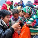 Những trẻ em nghèo ở Tả Lùng Thắng