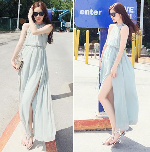Váy maxi xẻ tà