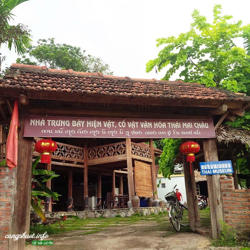 Nhà trưng bày hiện vật cổ vật văn hóa Thái ở Mai Châu