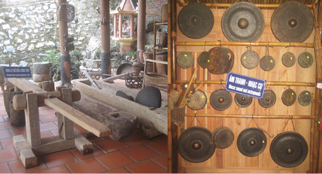 Cổ vật được trưng bày và sưu tầm từ nhiều nơi mang giá trị văn hóa Thái