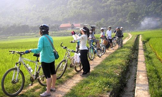 Thuê xe đạp khám phá thung lũng Mai Châu