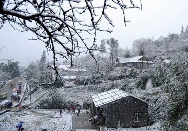 Tuyết phủ khắp nơi ở Sapa